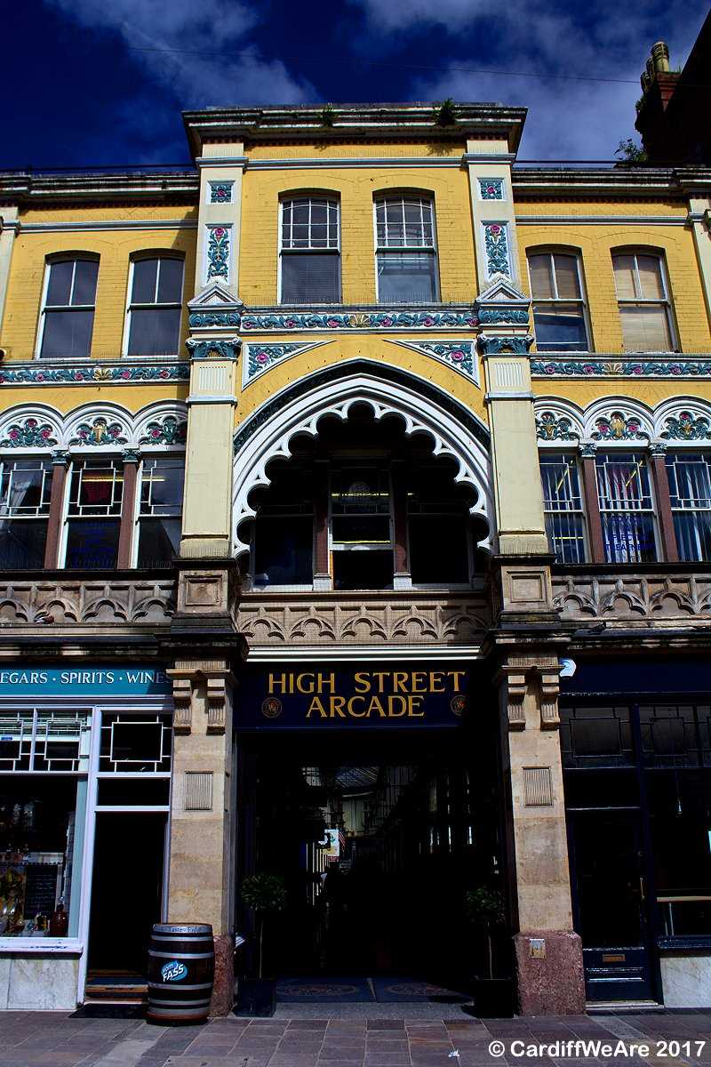 Beautiful shopping arcades in Cardiff