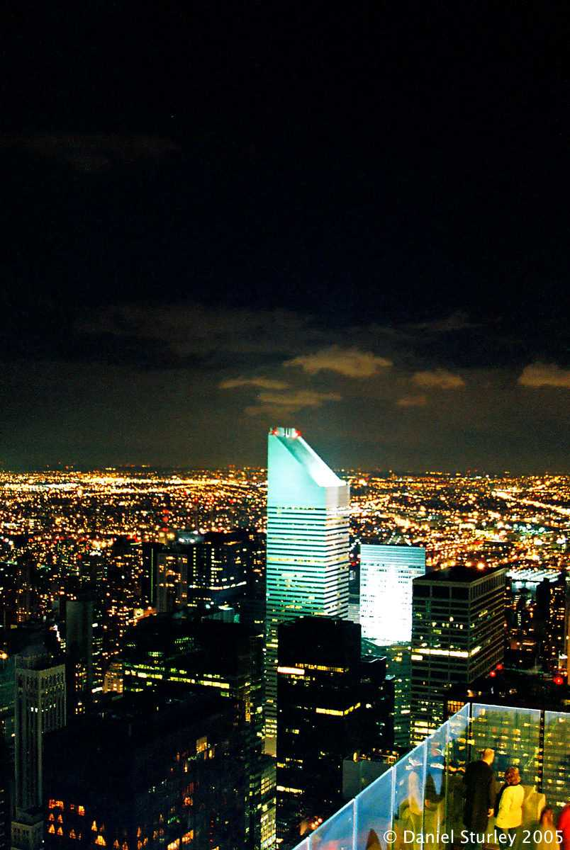 New York City, the View North East from the Rockefeller Centre at Night - November 2005