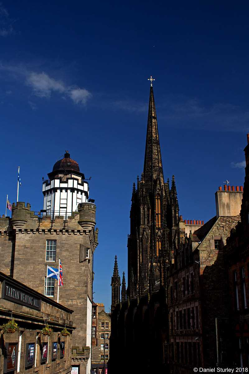 Edinburgh, the Spire of the Hub and the Camera Obscura - April 2016