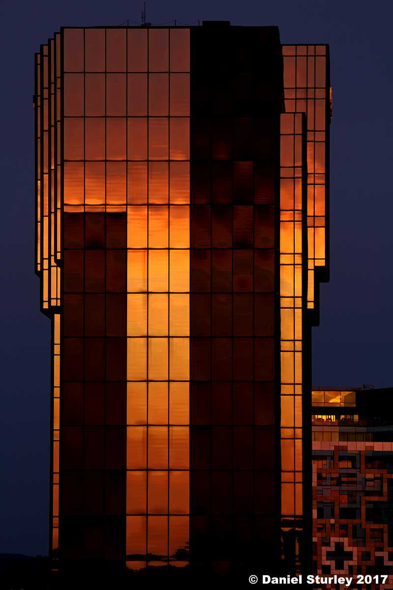 Reflected Sunset in Great Architecture