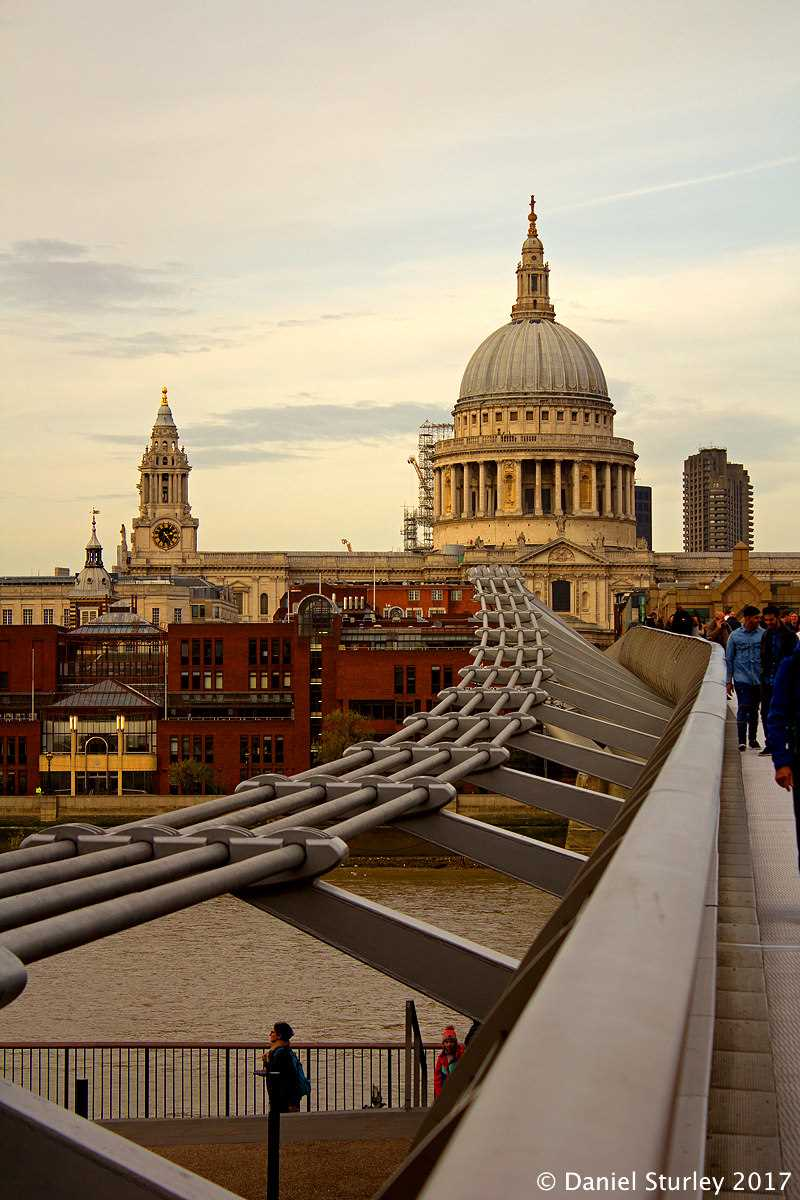London, a St Paul's Cathedral From the Millennium Bridge - October 2017