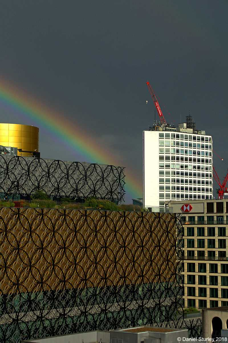 Rainbow Over Birmingham City Centre - 28th July 2018