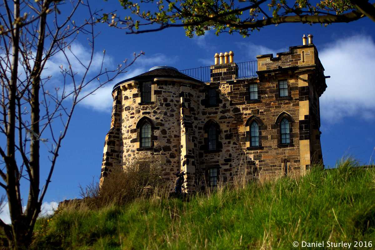 Edinburgh, the Old Observatory House on Calton Hill - April 2016