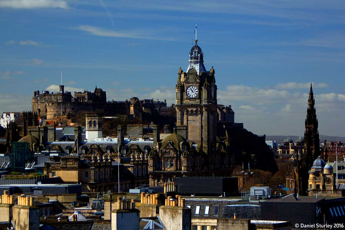 Edinburgh, the Castle and the Balmoral Hotel - April 2016