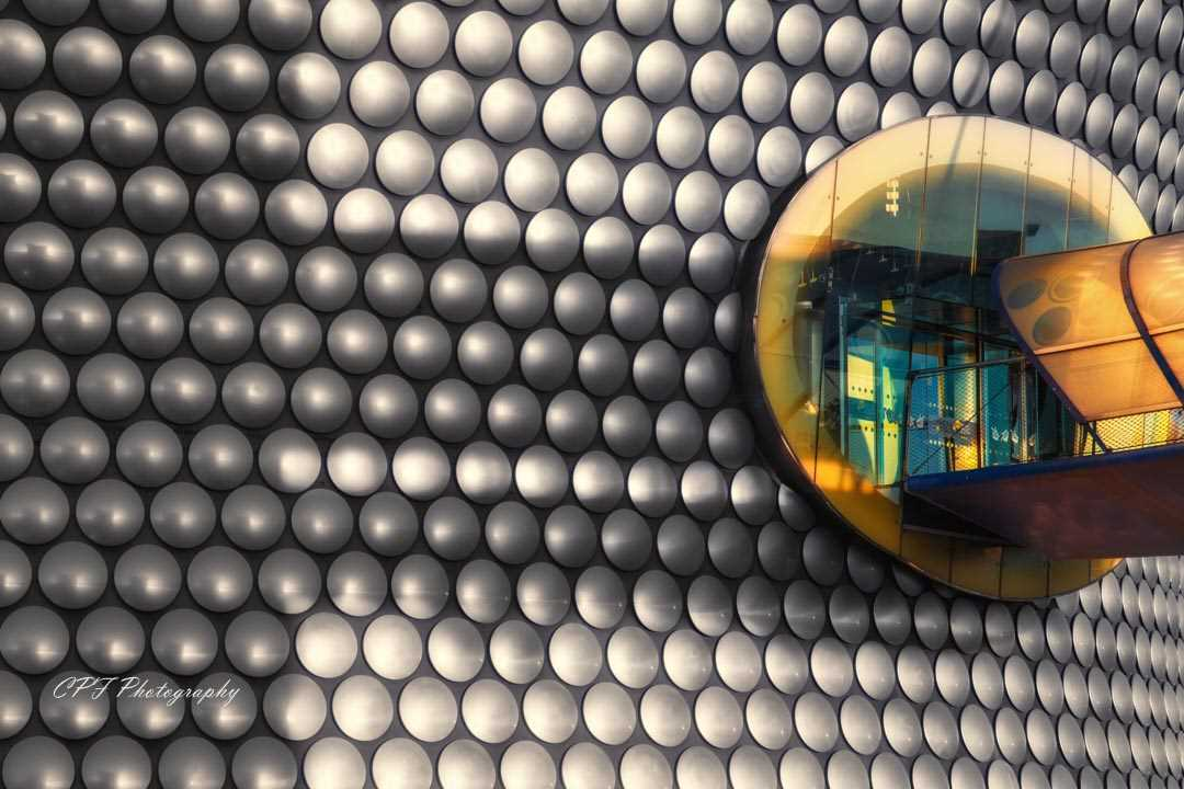 The entrance to selfridges in Birmingham